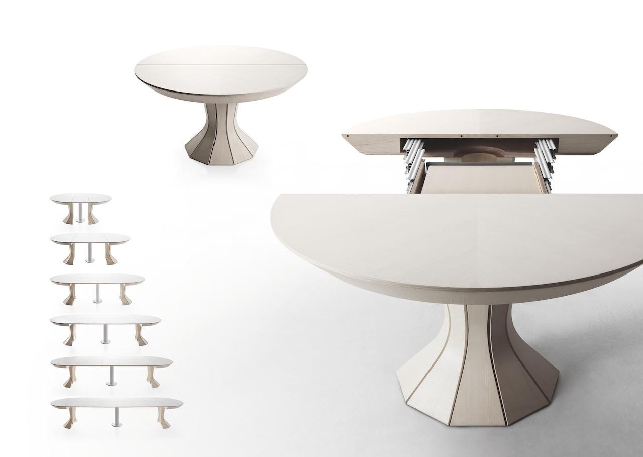 Table ronde avec rallonge cuisine idconcept - Ikea table salle a manger avec rallonge ...