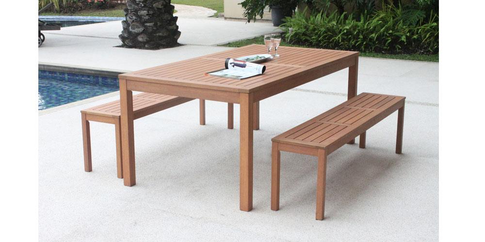 table de salon de jardin en bois - Table Jardin En Bois