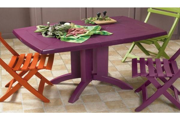 Table de jardin pas cher plastique - cuisine idconcept