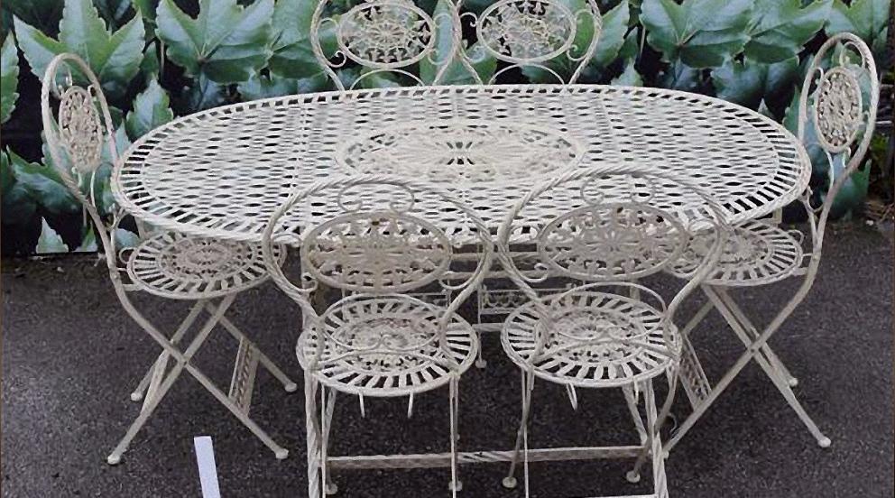 Table jardin fer forgé - cuisine idconcept
