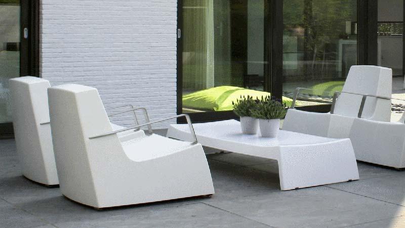 Mobilier de jardin plastique - cuisine idconcept