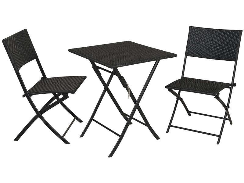 Petite table de jardin avec 2 chaises cuisine idconcept - Table de cuisine pliante avec chaises integrees ...