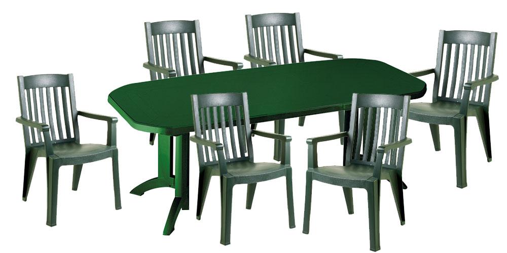 Table salon de jardin plastique - cuisine idconcept