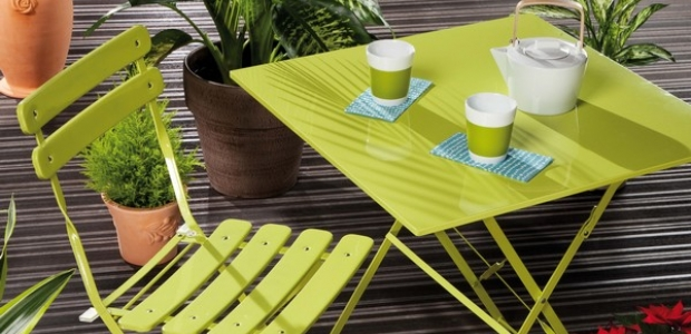 Emejing Table De Jardin Fer Couleur Photos - House Design ...