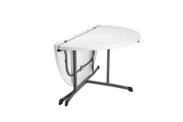 Table de jardin ronde pliante - cuisine idconcept