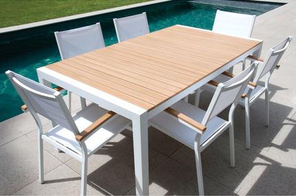 Table de salon de jardin ronde - cuisine idconcept