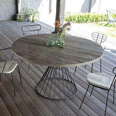 Table et chaise de jardin aluminium - cuisine idconcept