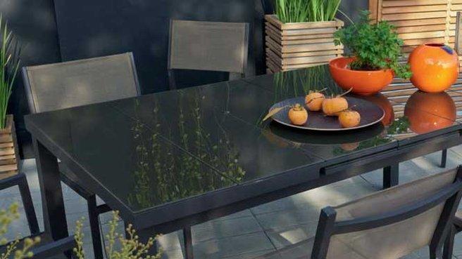 Leroy merlin table de jardin - cuisine idconcept