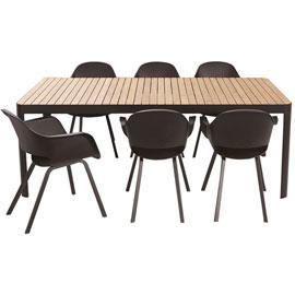 Table jardin noire - cuisine idconcept