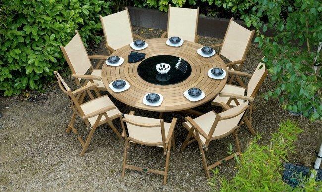 Table de jardin avec rallonge en resine - cuisine idconcept