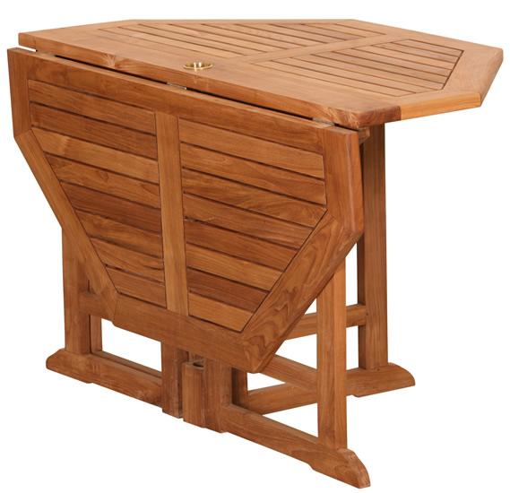 Table jardin pliante bois - cuisine idconcept
