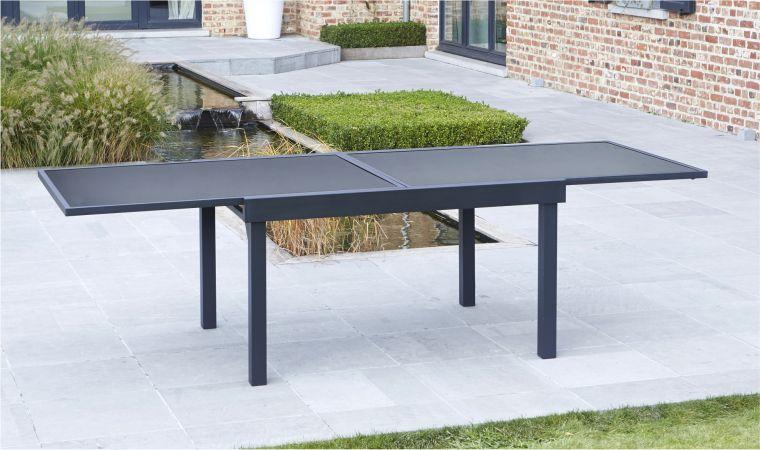 Table de jardin en aluminium pas cher - cuisine idconcept