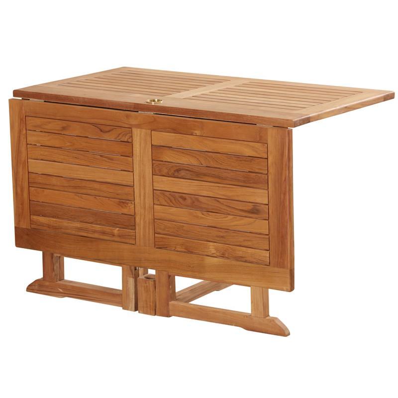 Table bois pliante exterieur - cuisine idconcept