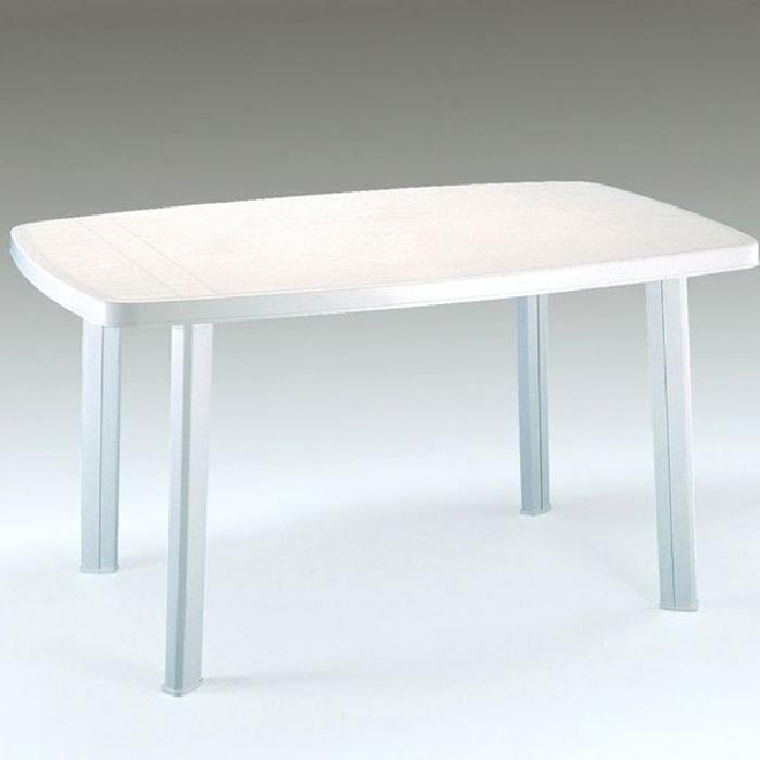 Table de jardin plastique blanc pas cher - cuisine idconcept
