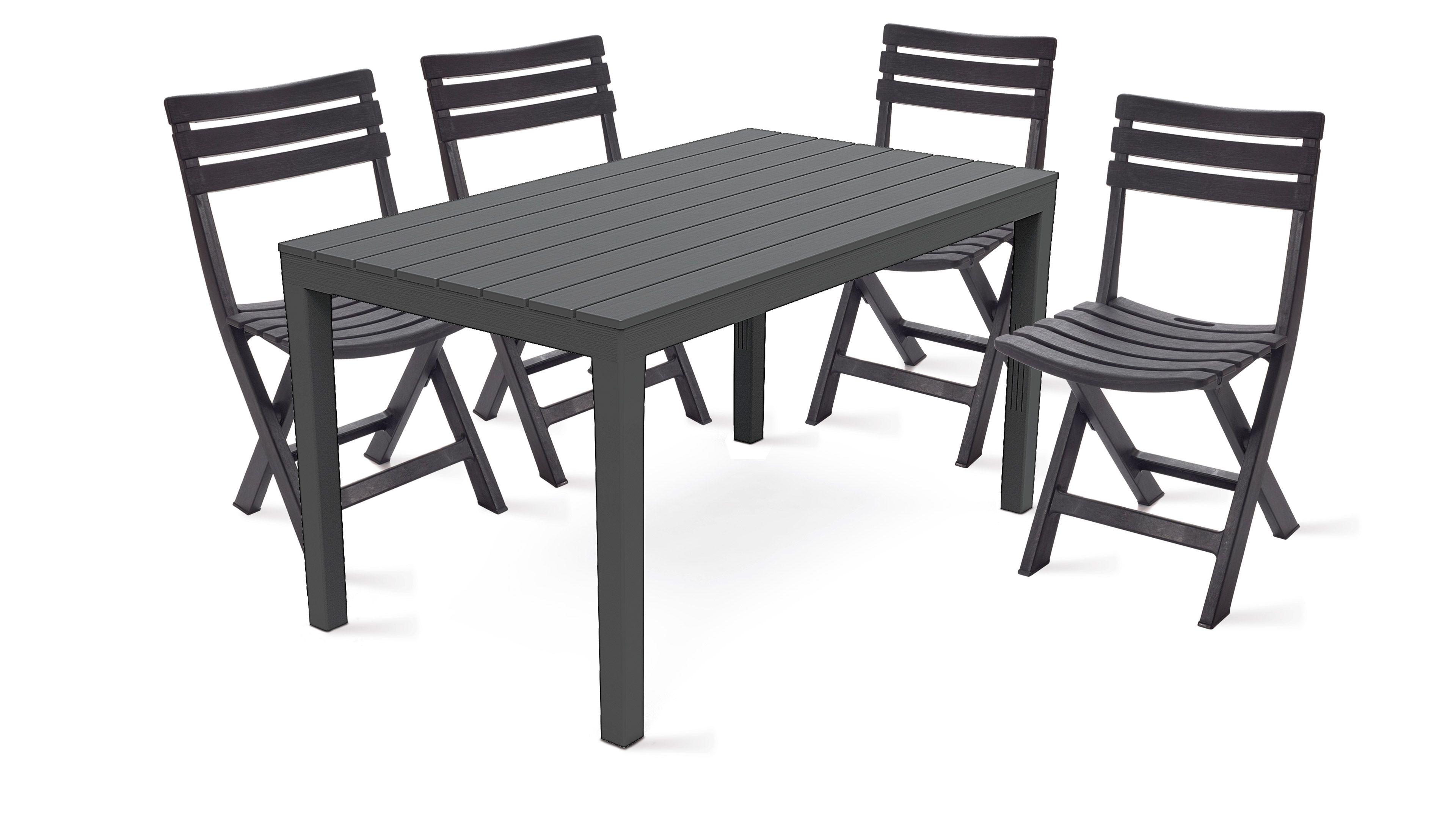 Ensemble table et chaise de jardin plastique - cuisine idconcept