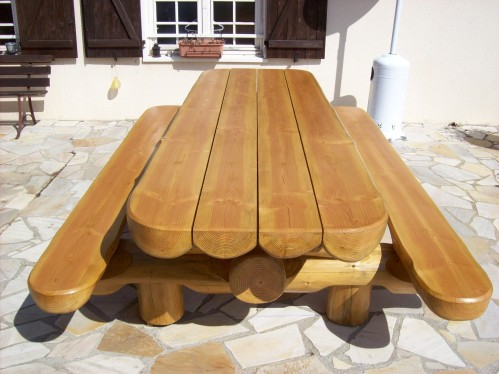 Table jardin en bois - cuisine idconcept