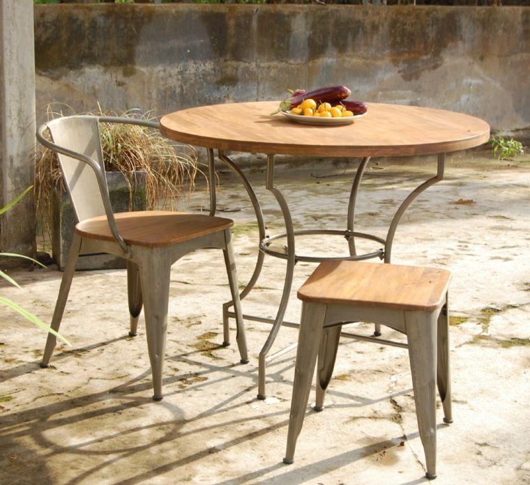 Petite table ronde de jardin - cuisine idconcept