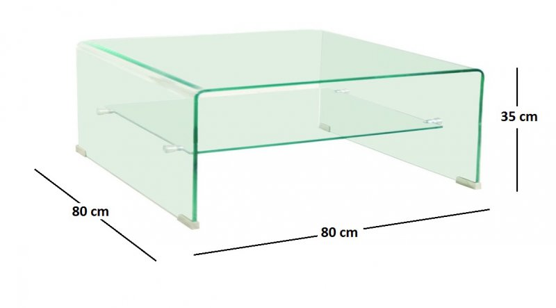 Verre table basse cuisine idconcept - Table en verre carre ...