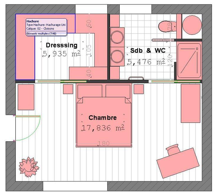 Modele de chambre avec dressing - cuisine idconcept