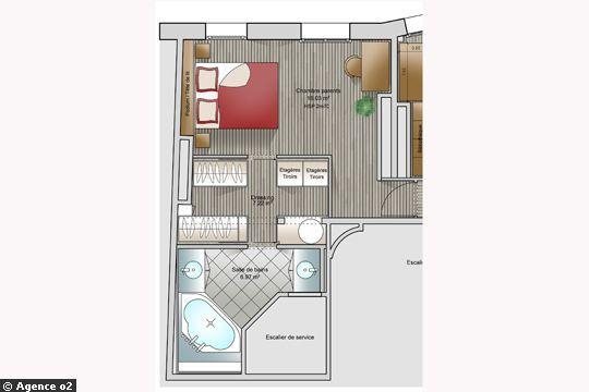 Chambre parentale avec salle de bain et dressing - cuisine idconcept