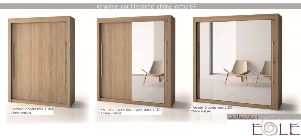 meuble penderie porte coulissante cuisine idconcept. Black Bedroom Furniture Sets. Home Design Ideas