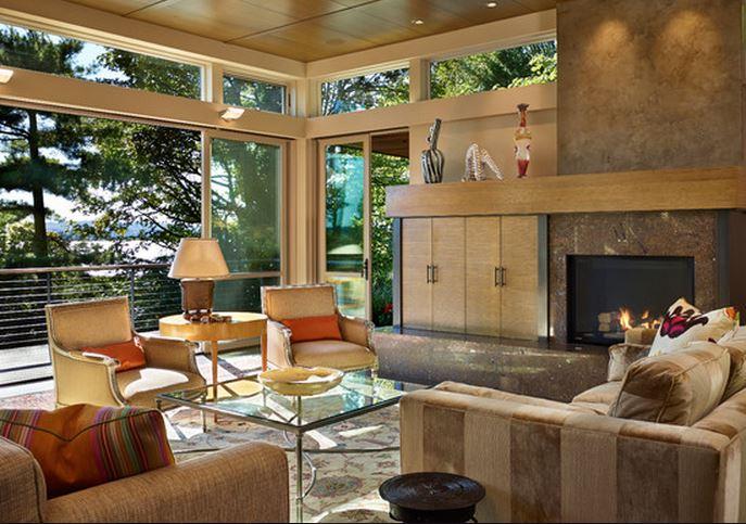 Decoration interieur bois moderne - cuisine idconcept
