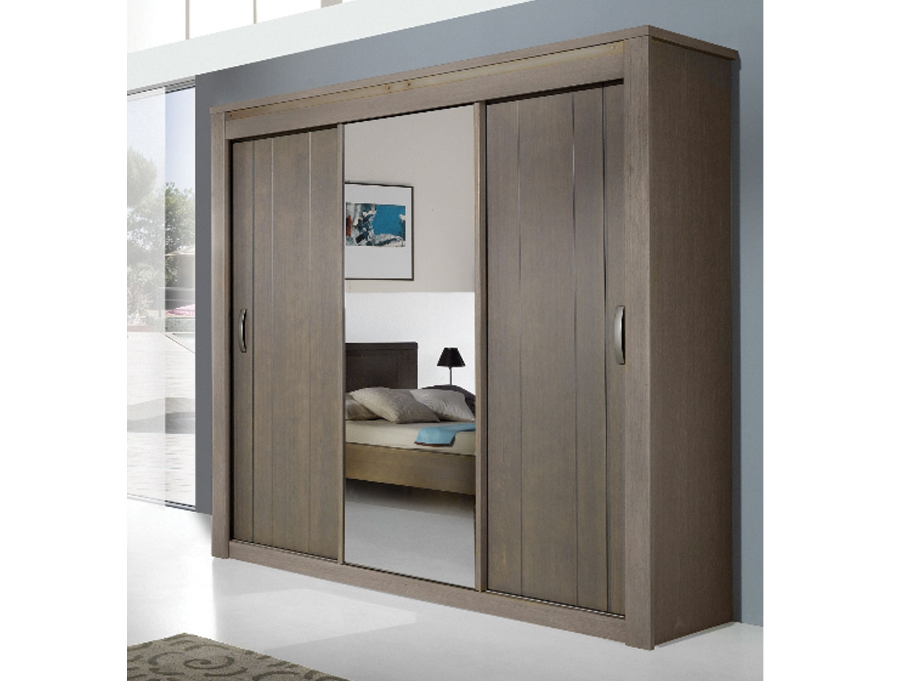 Armoire chambre 3 portes - cuisine idconcept