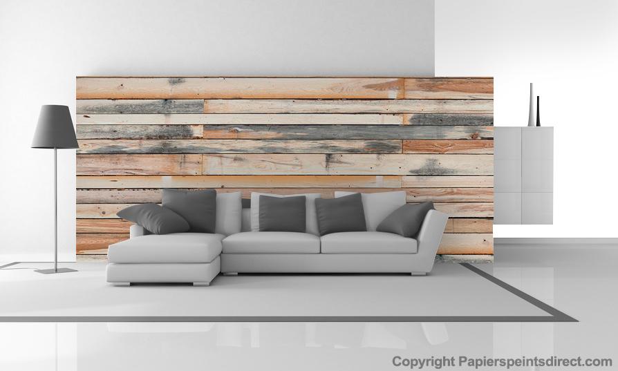 Deco mur bois brut - cuisine idconcept