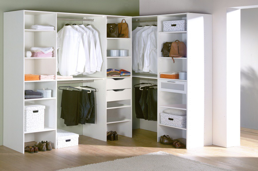 Dressing avec tiroir et penderie cuisine idconcept - Placard d angle chambre ...