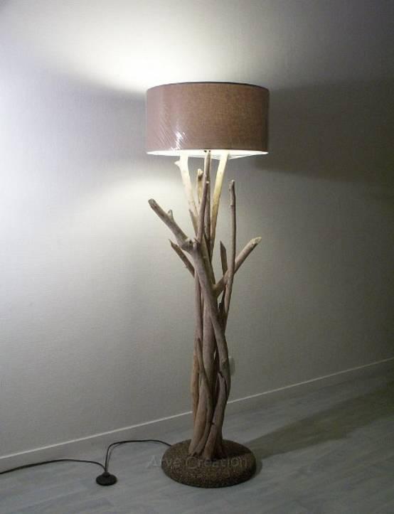 Lampe En Bois Flotte Creation Cuisine Idconcept