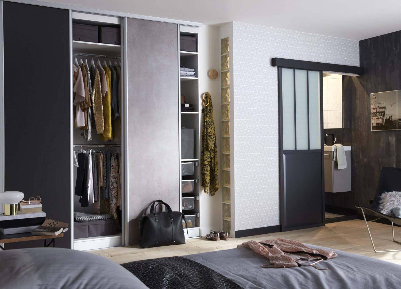 chambre parentale avec salle de bain et dressing cuisine. Black Bedroom Furniture Sets. Home Design Ideas