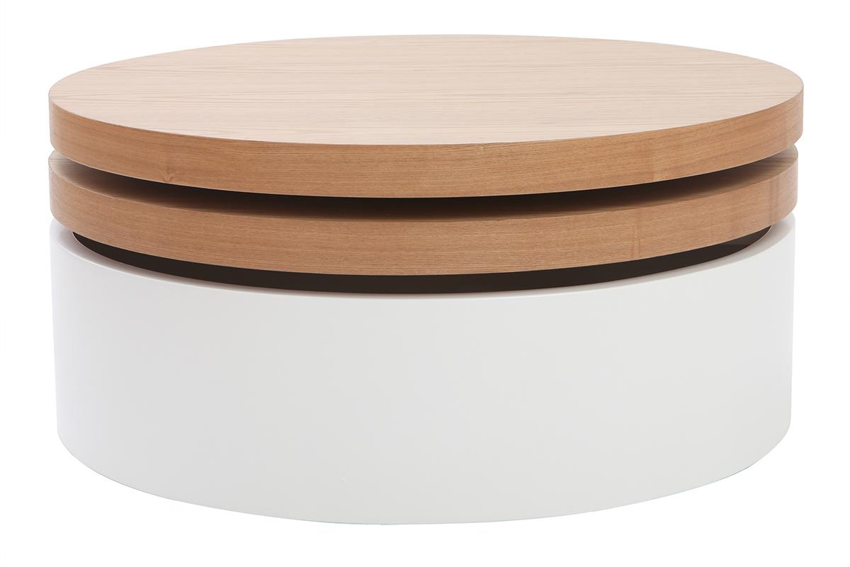 Table basse ronde avec rangement - cuisine idconcept